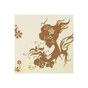 Flower Girl Butterfly Wall Stickers / Wall Decals Big size 100*120cm
