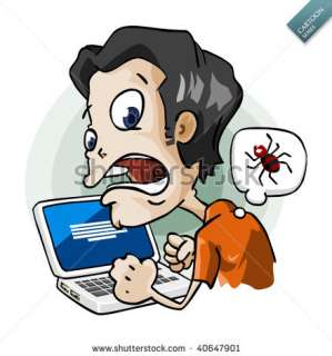 Infected By Virus. Cartoon Series Stock Vector 40647901 : Shutterstock