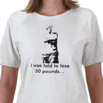 22.45   venusdemilo, I was told to lose 30 pounds Tee Shirts