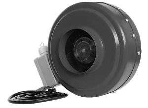 Inch Hydroponic Inline Duct Fan Exhaust Vent Blower