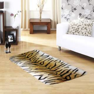 Animal Style Print Faux Fur Rug 70cm x 140cm