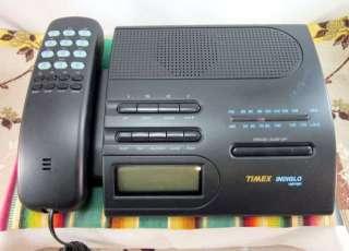 Vintage 1980s Timex Telephone Alarm Clock Lighted Radio