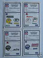 Packers,Giants, Jets, & Dolphins 4 Transfer Patterns NM