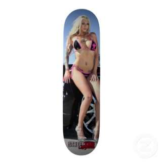 Street King Magazine model Destiny Daniels Custom Skateboard from