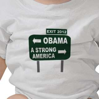 Anti Obama Exit Sign 2012 Election Road Sign Shirt by EverybodyShirts