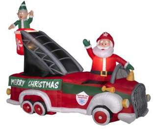 9ft long airblown inflatable christmas fire truck w for Motor for inflatable decoration