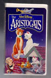 WALT DISNEYs The Aristocats (VHS) CATS, CLASSIC, Cartoons & Animation
