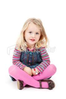 Year Old Girl Sitting down Royalty Free Stock Photo