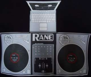 DJ T Shirt Rane Mixer Technics 1200s Complete DJ Set Up Size Medium