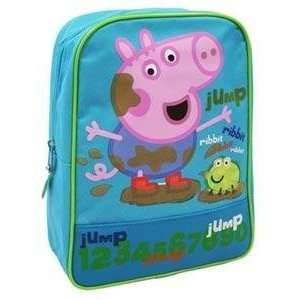 Peppa Pig George Backpack, Character Picture On The Front, Jump