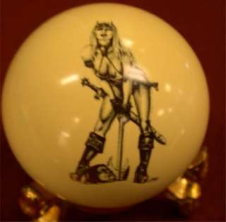 Pool/Billiards Hatchet Girl Pin Up Cue Ball