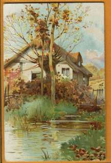 Ernest NISTER   Cottage by Stream