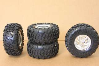 RC TRUCK AXIAL ROCK CRAWLER CRAWLING TIRES WHEELS RIMS
