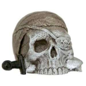 RESIN ORNAMENT   MINI SUNKEN PIRATE SKULL, 3 PACK, AQUARIUM