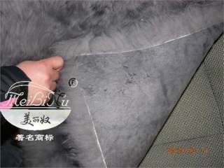 Gray Sheepskin Car Seat Covers Cover(No splicing)Pair