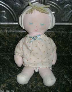 VINTAGE EDEN BABY GIRL DOLL STUFFED ANIMAL PLUSH MUSICAL KIDS TOY