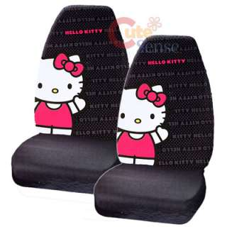 Sanrio Hello Kitty Car Seat Cover Pink Auto Accesories set Big Kitty 1