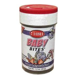 HBH GUPPY & FRY FISH BABY BITES 1.2 TO 1.3OZ FISH FOOD