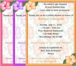 Bridal Shower Invitations Luau Hibiscus Party Supplies