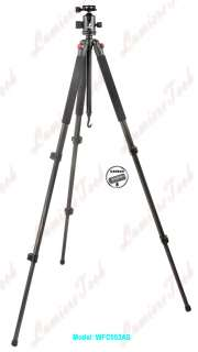 WFC553AS Photo Camera Carbon Fiber Tripod&Drag Ball Head Hight1.67M/66