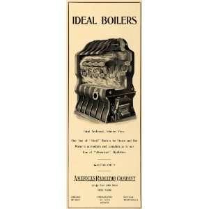 1902 Ad Ideal Boilers American Radiator Steam Hot Water
