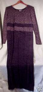 New Carole Little Petites Black Knit Long Dress Sz 10P~Slimming