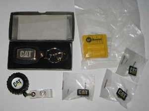Caterpillar CAT Logo Belt Clip Keychain Key Fob +3 Pins