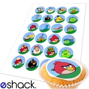 Angry Birds Edible Cake Toppers (Birthday Cupcake Topper by eShack