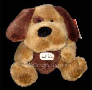 NEW RUSS Berrie CHIPPER 22582 Plush Brown PUPPY DOG 8 Stuffed Animal