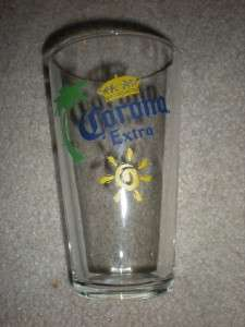 CORONA EXTRA CERVEZA PINT USED EUC 6 TALL BEER BAR
