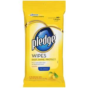 Pledge Pre Moistened Lemon Wipes, 24ct Household