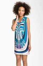 Nicole Miller Tribal Print Gauze Shift Dress $345.00