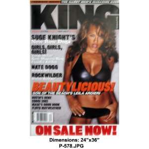 LEILA ARCIERI King Magazine 24x36 Poster