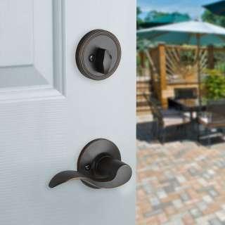 Front Door Entry Set Lock Oil Rubbed Bronze Lever RH 661799877336