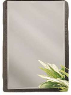 Frameless beveled mirror Surface or recess mount Recess opening is