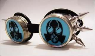 Gas Mask Cyber Goth Goggles Industrial Steampunk Rave