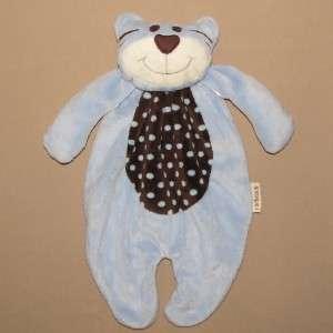 CACH CACH Blue TIGER TEDDY BEAR Security Blanket LOVEY Brown POLKA DOT