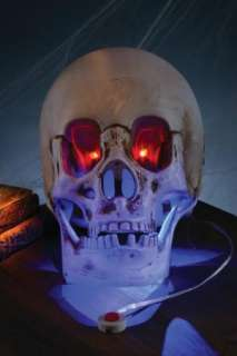 ANIMATED SKULL LED LIGHTS SOUND HALLOWEEN PROP TABLE