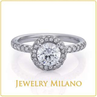 SI REAL CERTIFIED DIAMOND ENGAGEMENT RING YELLOW GOLD 14K