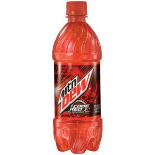 Mountain Dew Code Red Soda, 20 oz