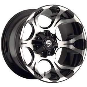 Fuel Dune 20x9 Machined Black Wheel / Rim 6x5.5 with a 20mm Offset and