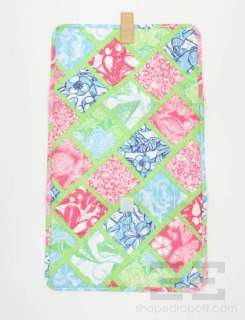 Lilly Pulitzer Multicolor Floral Print Nylon & Tan Leather Diaper Bag