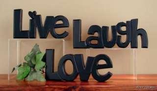 Large Black LIVE LAUGH LOVE WORD ART Primitive Rustic Home Decor