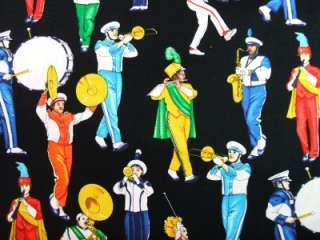 Timeless Treasures Marching Band Instrument Fabric Yard