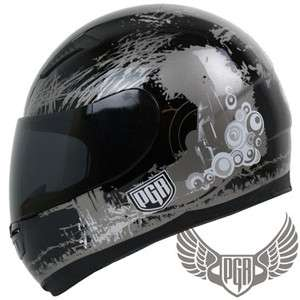 Hornet Full Face Street Custom Bike DOT APPROVED Motorcycle Helmet ~ L