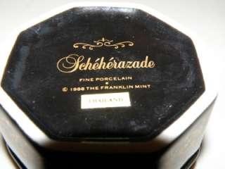 Franklin Mint porcelain Scheherazade music box