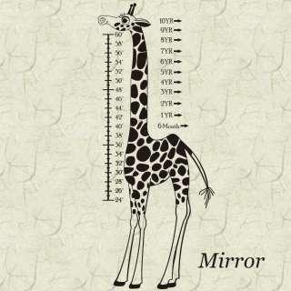 Giraffe Childs Growth Chart Vinyl Wall Sticker Decals