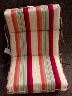Outdoor Patio Chair Cushions ~ Sorbet Stripe ~ 22.5 x 45 x 4.5