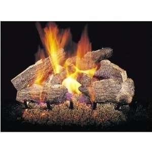 Gas Logs 30 Inch Charred Rugged Split Oak Vented Propane Gas Log Set