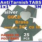 ANTI TARNISH PAPER TABS 1 25pcs 3M JEWELRY SILVER GOLD